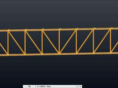 design truss from steel with AS4100 - 1998 Australian Standa