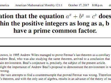 Theorem for the American Mathematical Monthly