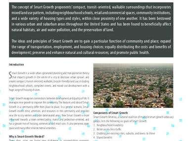 """Smart Growth:A Modern Urban Principle"""