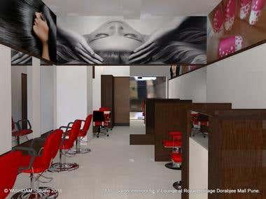 1031 - Interior Design for V-Lounge at DRHM, Pune