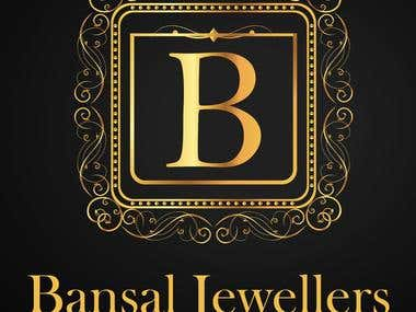 Bansal Jewelers logo and visiting card