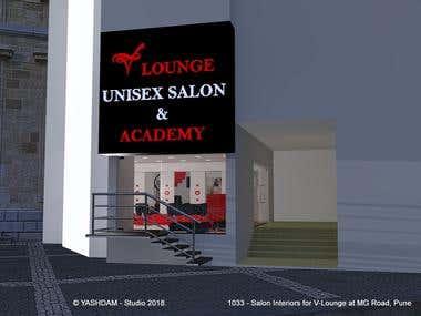 1033 - V:Lounge Salon at MG Road Pune.