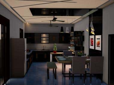Kitchen and Dining Interior.