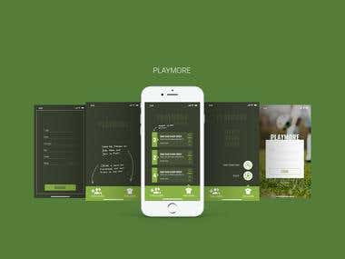 Interface design for PlayMore