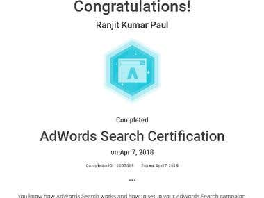 AdWords Search Certification (2018)
