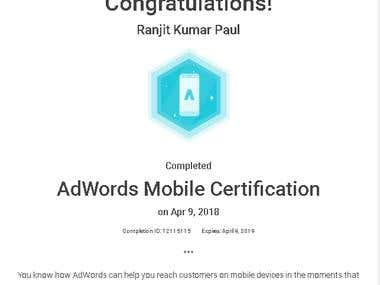 AdWords Mobile Certification (2018)