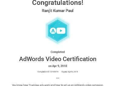 AdWords Video Certification (2018)