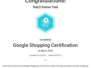 Google Shopping Certification (2018)