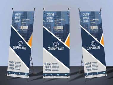 Banner/Roll up banner/Ad Design