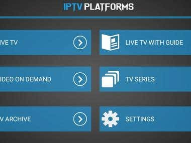 IPTV app for Android Box