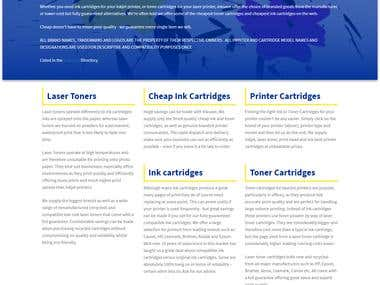 E-commerce website for Inksave