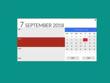 Calendar app for making appointments to local clinic