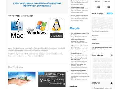 WEBSITE FOR IT COMPANY AT MALLORCA