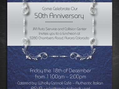 Invitations card- Business anniversary