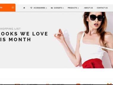 E-Commence Shopping Site-Kawawa