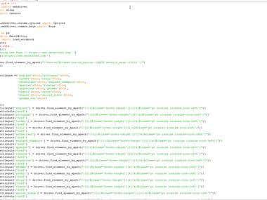 Python and Selenium Scraper for football website whoscord.co
