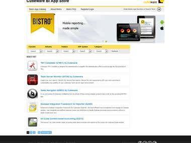 Bistro - Cubeware BI App Store