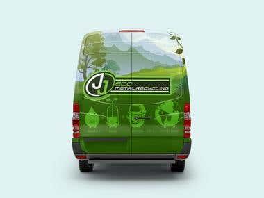logo and branding car JJ metal recycling