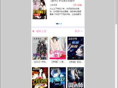 China novel reading system site