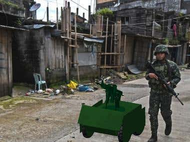 my military robot 3d design