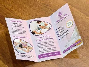 Spa Trifold Brochure Design