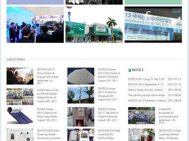 English website in Wordpress