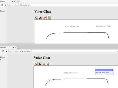 Whiteboard with Voice Chat(Node+Express+Socket.io+WebRTC)