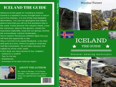 Cover design Iceland front and back