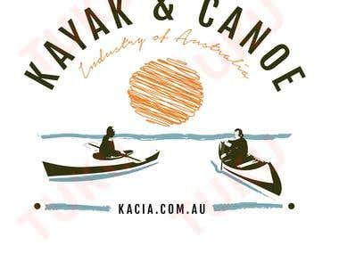 LOGO FOR A KAYAK&CANOE COMPANY