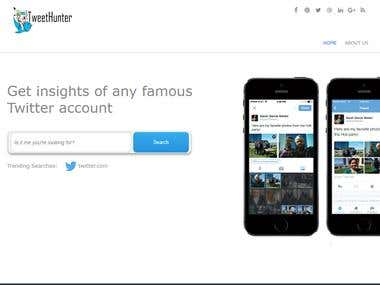 Tweet Hunter Web (HTML, CSS and JavaScript)