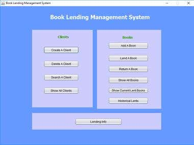 Book Lending Management System