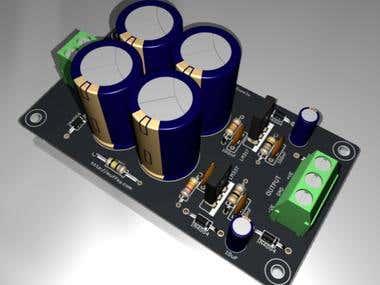 12V power supply pcb layout