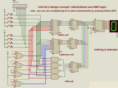 4-bit Arithmetic and Logic Unit ALU