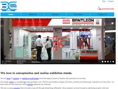 Corporate Event & Exhibitions Website