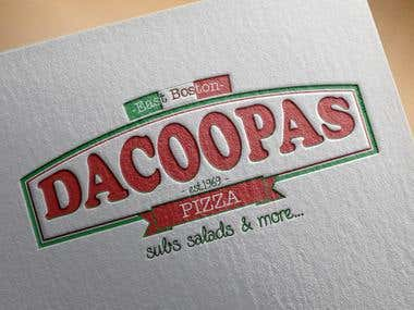 Dacoopas Pizza Logo Design