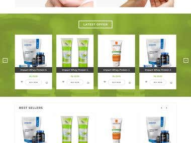 Website design and development for medical products retailer