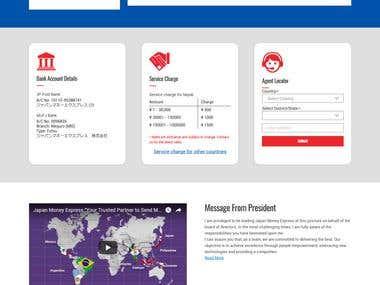 Website Design for Remittance Company