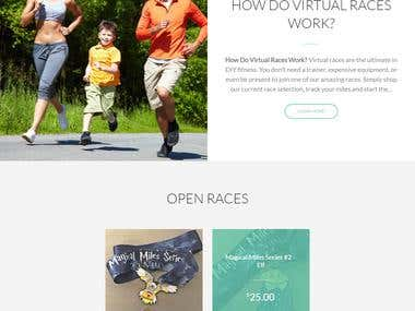 E-commerce Fitness site