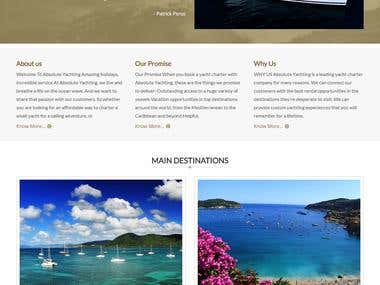 Php Yacht rental and buy Service website