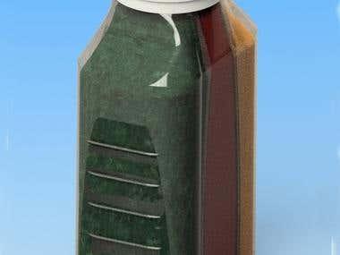 Plastic bottle 3 in one