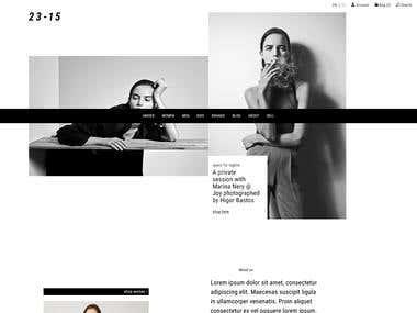 Yii-based Fashion Marketplace website