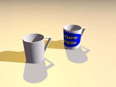 Cup Model Viewer (using Three.js)