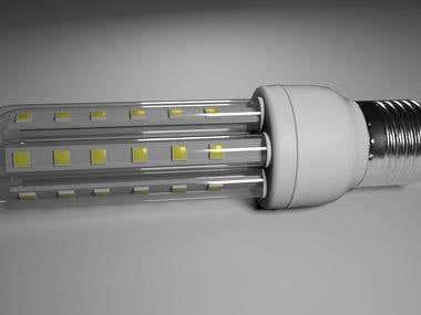creation d'un ampoule en 3d