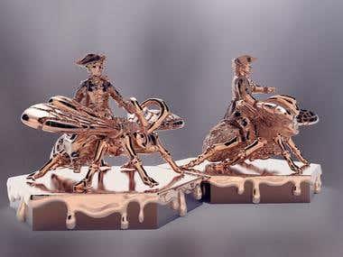 Souvenir figurines-seals