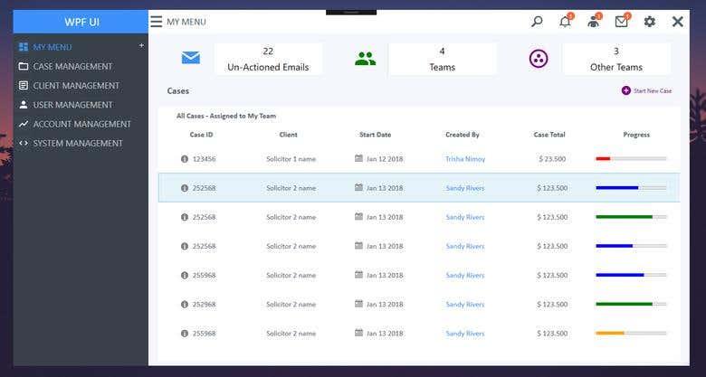 WPF Dashboard UI | Freelancer