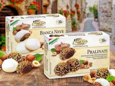 Packaging design for Italian cookies