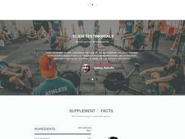 SupMuscle Simple Web Site