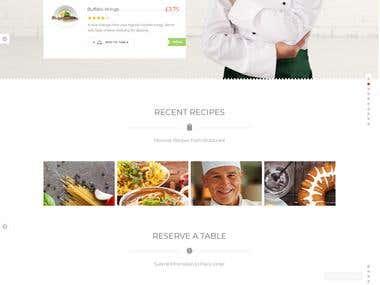 Online ordering website