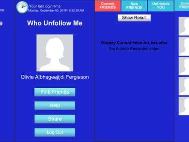 Who Unfollow Me - Mobile App