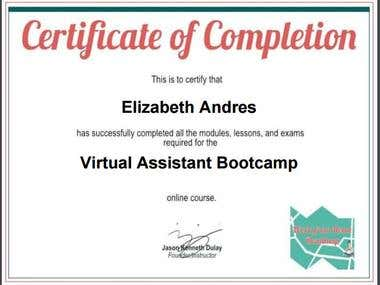 Data Entry Template - Certificate
